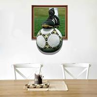 Verwijderbare 3D-voetbalstickers aan de muur, afmetingen: 78,3 x 58 x 0,3 cm