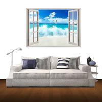 3D Scenery Window View verwijderbare muurkunststicker, afmetingen: 60 x 85 x 0,3 cm