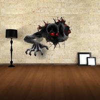 Muurdecor 3D Terror verwijderbare muurstickers, afmeting: 68cm x 58cm