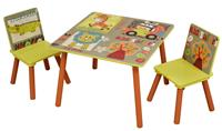 blinq Kid Safari Tafel en Stoelenset (TF4808)