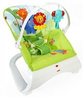 Fisher-Price Fisher Price wipstoel Rainforest Friends 53,5x61,5 cm groen/wit