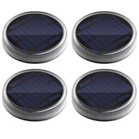 Solar grondspot Round op zonne energie voordeelset van 4 stuks