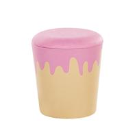 Beliani Poef beige/roze MOUSSEE