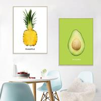 dennisdeal loskii fx64092 zelfklevende muursticker ananas avocado waterdicht muurstickers slaapkamer decoratie muurtattoo stickers home decor
