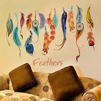 dennisdeal fashion dream catcher veren verwijderbare muursticker muurschilderingen vinyl decals