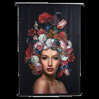 Wanddoek Lady Flowers VelvetMulti 105 X 2.5 X 136
