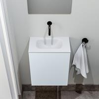 zaro Polly toiletmeubel 40cm clay met witte wastafel zonder kraangat