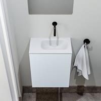 zaro Polly toiletmeubel 40cm clay met witte wastafel zonder kraangat rechts
