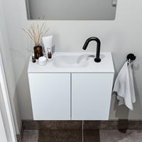zaro Polly toiletmeubel 60cm clay met witte wastafel met kraangat