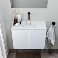 zaro Polly toiletmeubel 60cm clay met witte wastafel zonder kraangat