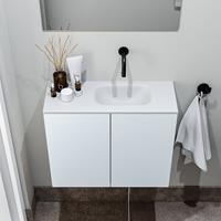 zaro Polly toiletmeubel 60cm clay met witte wastafel zonder kraangat rechts