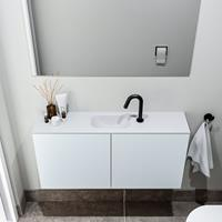 zaro Polly toiletmeubel 100cm clay met witte wastafel met kraangat