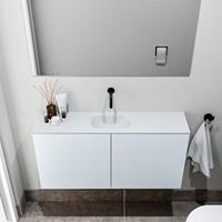 zaro Polly toiletmeubel 100cm clay met witte wastafel zonder kraangat