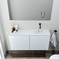 zaro Polly toiletmeubel 100cm clay met witte wastafel zonder kraangat rechts