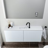 zaro Polly toiletmeubel 120cm clay met witte wastafel met kraangat