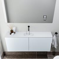 zaro Polly toiletmeubel 120cm clay met witte wastafel zonder kraangat