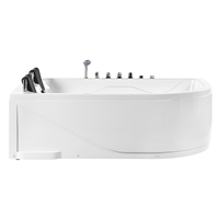 Beliani Whirlpool wit met LED-verlichting rechtszijdig PELAITA