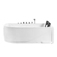 Beliani Whirlpool wit met LED-verlichting linkszijdig PELAITA