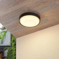 Lucande Lare LED buiten plafondlamp, Ø 25cm