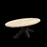 Eettafel Eiken Ovaal Almond met Spinpoot 260x120cm