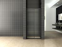 mueller Skyline schuifdeur 120x200 mat zwart anti-kalk