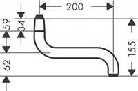hansgrohe Kraanuitloop Universeel Keuken wanduitloop 2mm 92616000