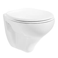 Bewonen Aloni hangtoilet glans wit - met Softclose & Quickrelease zitting