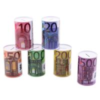 Metalen spaarpot 10 euro biljet 8 x 15 cm - Spaarpotten