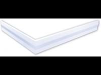 polysan hoekpaneel voor Varesa en Karia douchebakken 120x80x11cm rechts