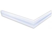 polysan hoekpaneel voor Varesa douchebakken 90x80x11cm links