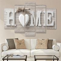5 STKS Canvas Afdrukken Liefde HOME Frameloze Wall Art Pictures voor Thuis Woonkamer Slaapkamer Decoratie, Maat: 30x40cm x2,30x60cm x2,30x80cm x1