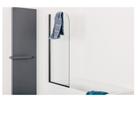 Sanifun badwand Kelderman 140 x 80 zwart.