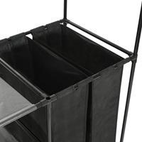 VidaXL Kledingrek 87x44x158 cm staal en ongeweven stof zwart