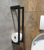 lambinidesigns Lambini Designs reserve toiletrolhouder 45x10x13cm mat zwart