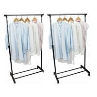 2x Mobiele kledingrekken 162 cm - Kledingrekken