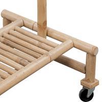 VidaXL Kledingrek bamboe