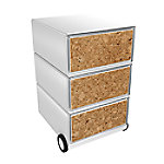 paperflow easybox mobiele ladenblok met 3 lades 642x390x436mm  cork