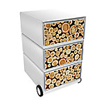 paperflow easybox mobiele ladenblok met 3 lades 642x390x436mm  logs