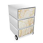 paperflow easybox mobiele ladenblok met 3 lades 642x390x436mm  gold leaves