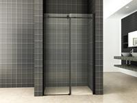 mueller schuif douchedeur 140x200cm mat zwart