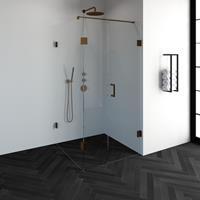 sanituba Complete Profielloze Douchecabine Vierkant 3-delig 100x100cm koper