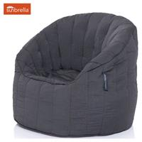 Ambient Lounge Outdoor Sunbrella Butterfly Sofa - Black Rock