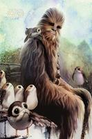 Pyramid Star Wars The Last Jedi Chewbacca and Porgs Poster 61x91,5cm
