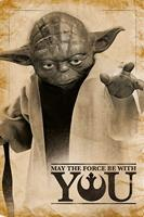 Pyramid Star Wars Yoda May the Force Be With You Poster 61x91,5cm
