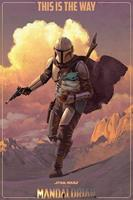 Pyramid Star Wars The Mandalorian On the Run Poster 61x91,5cm