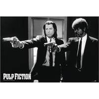 Pyramid Pulp Fiction Black and White Guns Poster 91,5x61cm