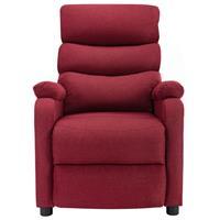 vidaXL Massagestoel verstelbaar stof wijnrood
