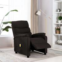 vidaXL Massagestoel verstelbaar stof donkerbruin