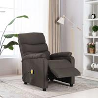 vidaXL Massagestoel verstelbaar stof taupe