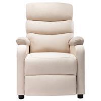 vidaXL Massagestoel verstelbaar stof crème